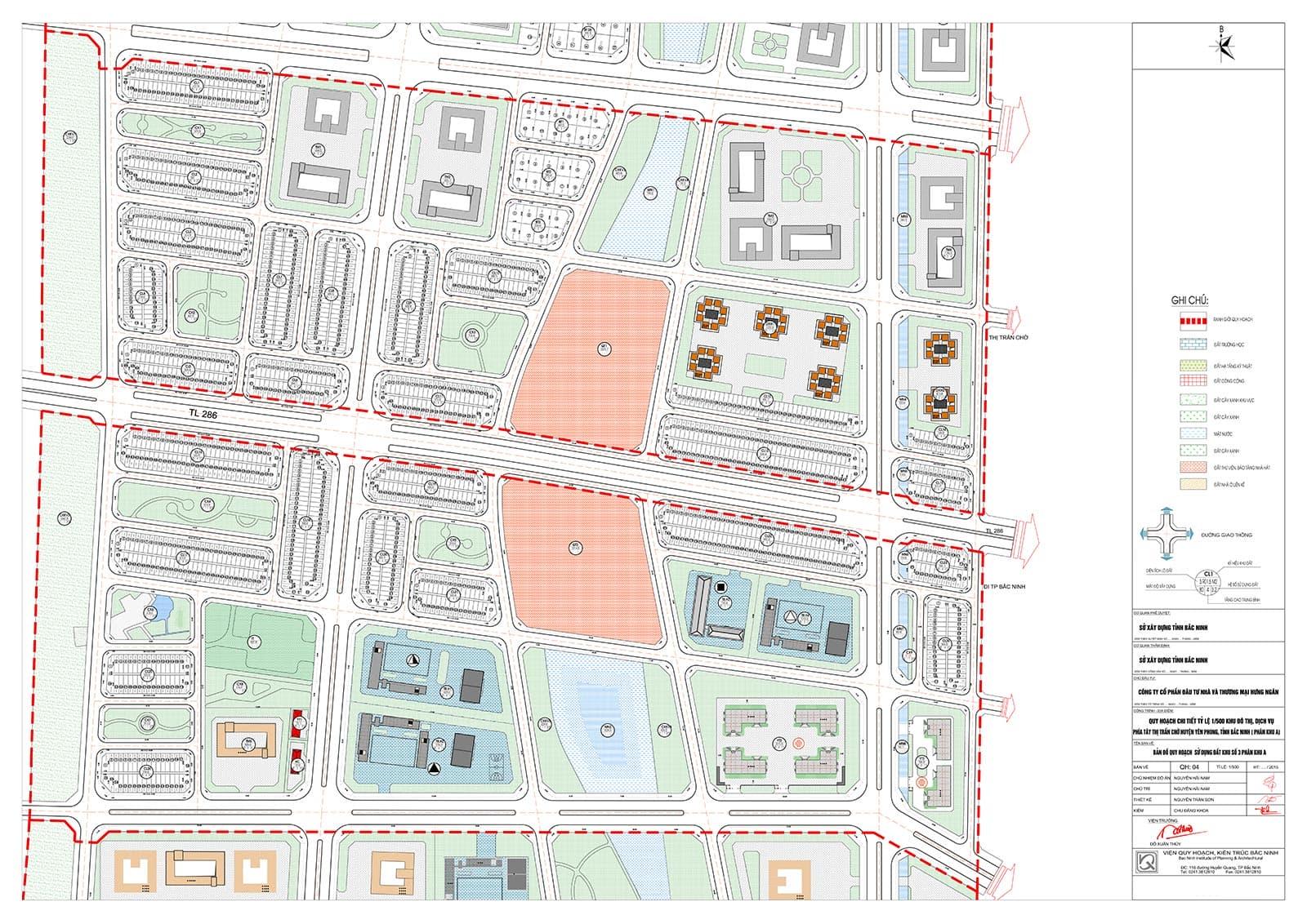 Bản đồ chia lô tỉ lệ 1/500 tiểu khu 3 - Đô thị Kim Đô