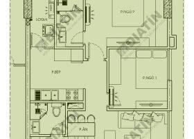Căn 2 phòng ngủ 64m2 tòa CT1B chung cư Panorama