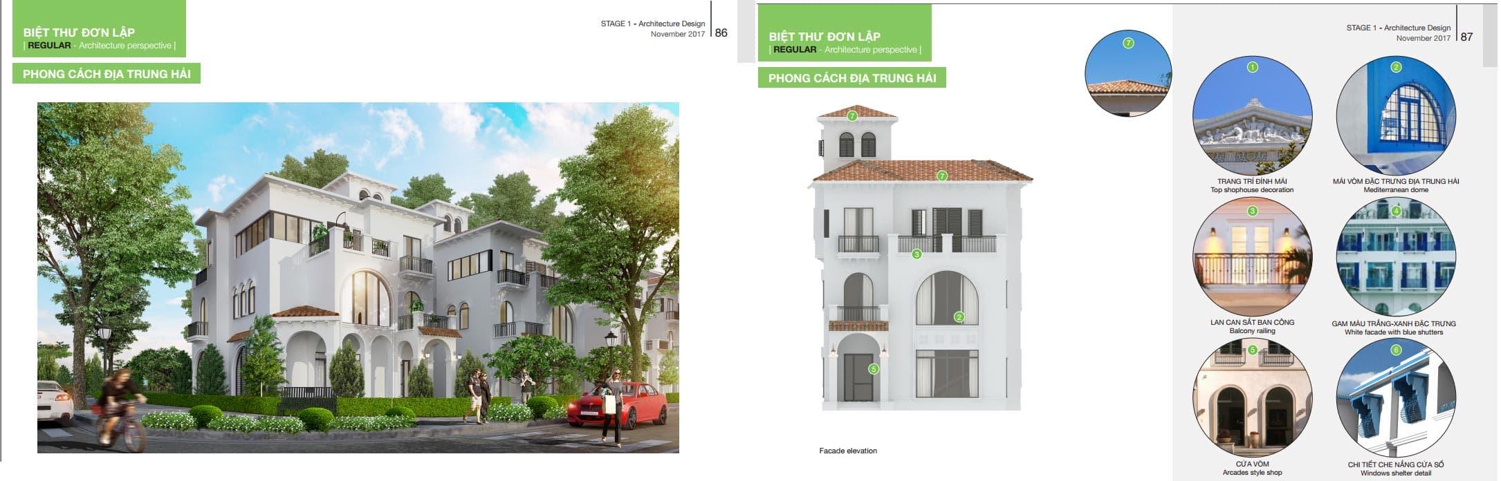 26 căn biệt thự đơn lập diện tích từ 250m2 -320m2