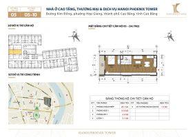 Căn 1PN diện tích 54.7 m2 Hanoi Phoenix Tower, Kim Đồng, Cao Bằng