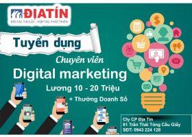 Tuyển Dụng 10 Digital Marketing