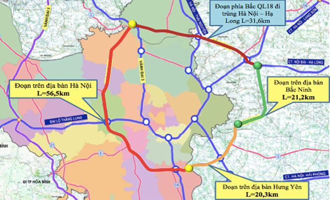 Xây dựng đường Vành đai 4 đi qua 5 tỉnh